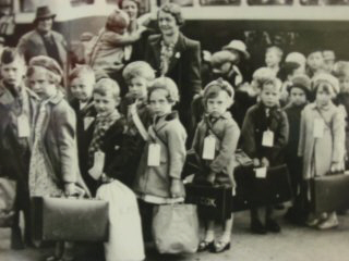 School children being evacuated during the war