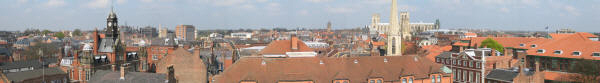 panorama of the City of York as seen from Clifford's Tower