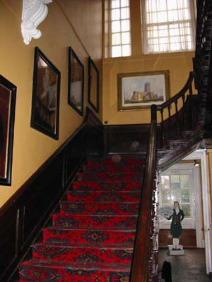 photo of staircase  red carpet photo of St George's church