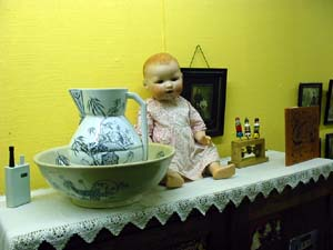 photo of doll ewer bowl toy old picture