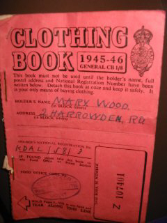 clothing book 1945-46 (after the war!)