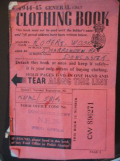 clothing ration book 1944-45