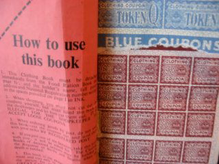 clothing ration book - blue coupons