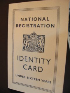 National Registration IDENTITY CARD - under 16 years