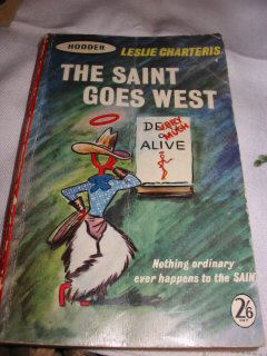 THE SAINT GOES WEST paper  book