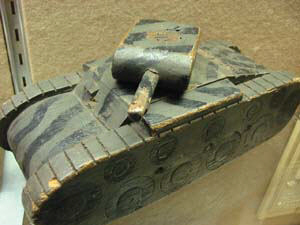wooden ww2 tank home made